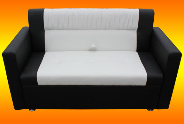 Кухонный диван черно-белый «Престиж»