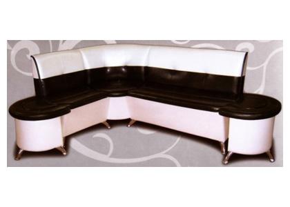 Кухонный диван с приставными пуфиками «Оскар»
