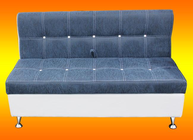 Кухонный диван сине-белый «Квадро»