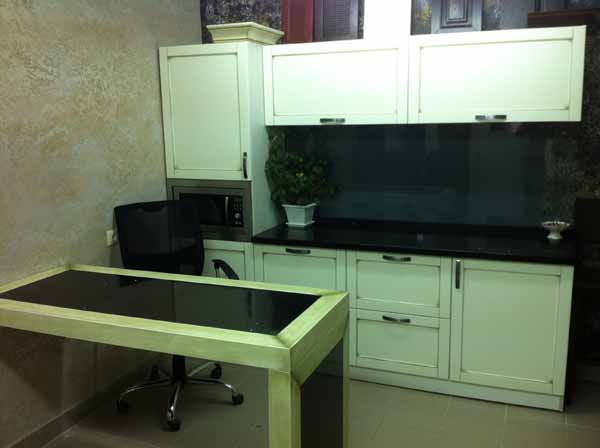 Кухонный гарнитур с винтажным дизайном