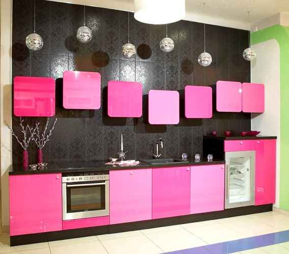 Кухонный набор розовый