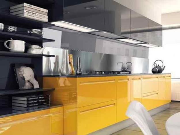 Кухонный набор современный с комбинированной цветовой гаммой