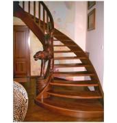 Лестница широкая из массива