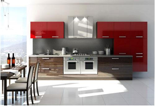 Линейный кухонный набор
