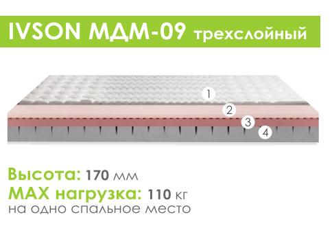Матрас беспружинный «Ivson МДМ-09»