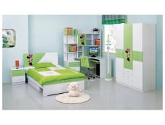 Мебель для детской бело-зеленая