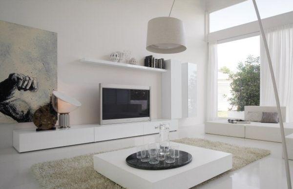 Мебель для гостиной белоснежная