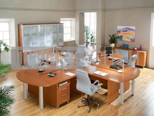 Мебель для офиса с несколькими рабочими местами