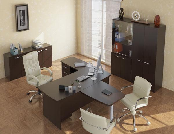Мебель для руководителя в цвете венге
