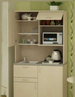 Мини-кухня для офиса бежевая