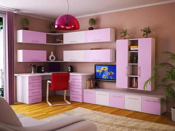 Модульная группа бело-розовая