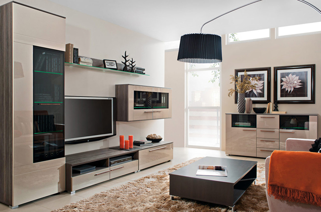 модульная система для гостиной Drift купить стенки горки
