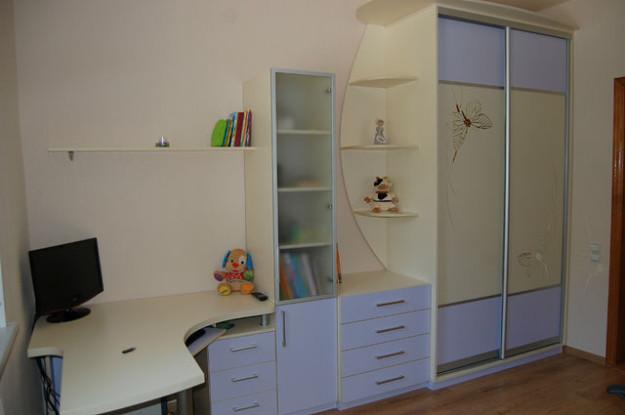 Модульная стенка для детской со шкафом-купе