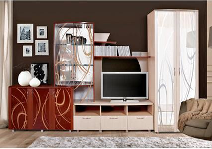 Набор корпусной мебели «Виктория 4-15Л карамель»