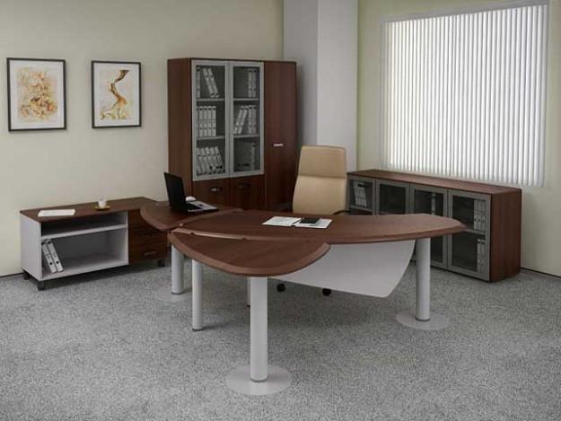 Набор мебели для руководителя с футуристичным столом