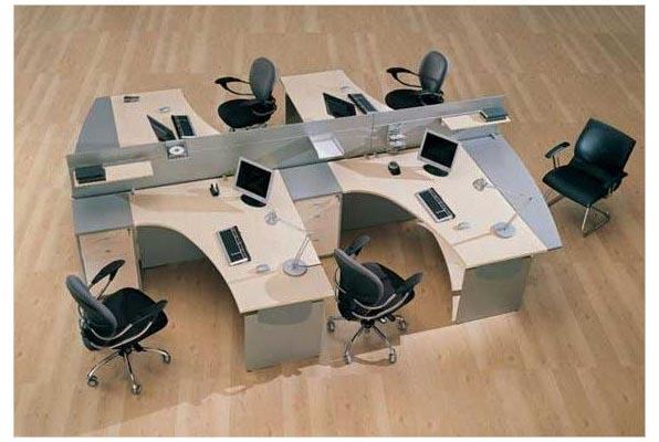 Набор офисной мебели для четырех человек