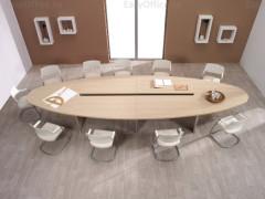 Набор офисной мебели с длинным овальным столом