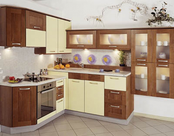 Необычная угловая кухня