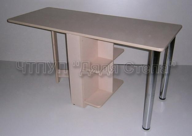 Обеденный стол раскладной «Квадро Плюс» с полочками
