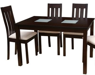 Обеденный стол со вставкой стекла «Antila F»