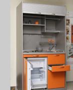 Офисная мини-кухня оранжевая