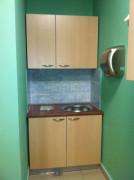 Офисная мини-кухня светлая