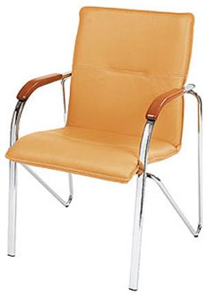 Офисный стул для посетителей на металлическом основании «Samba»