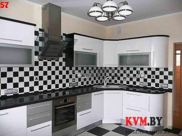 Оригинальная угловая кухня