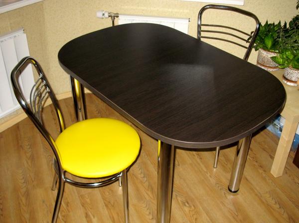 Овальный стол венге