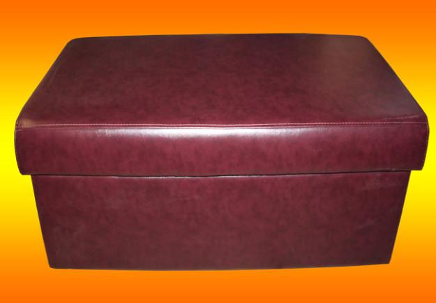 Прямоугольная банкетка бордового цвета