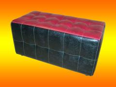 Пуфик прямоугольной формы из комбинированной обивки