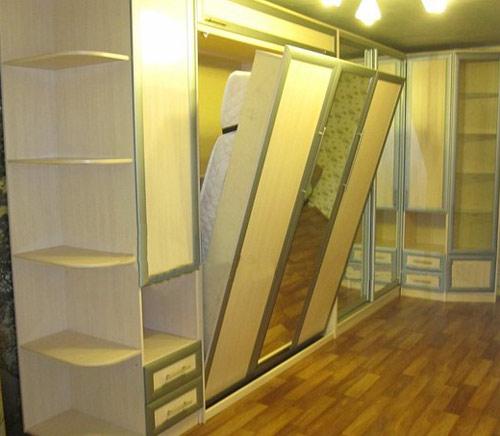 Шкаф-кровать двуспальная с зеркалом
