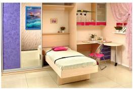 Шкаф-кровать компактная с полочкой
