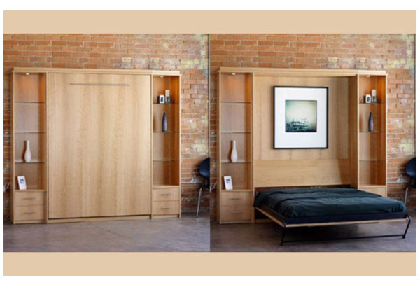 Шкаф-кровать с боковыми модулями