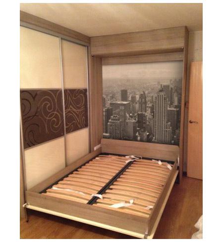 Шкаф-кровать с фотопечатью