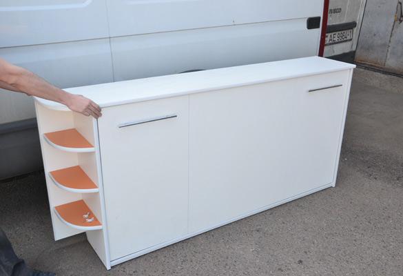 Шкаф-кровать с открытыми полками