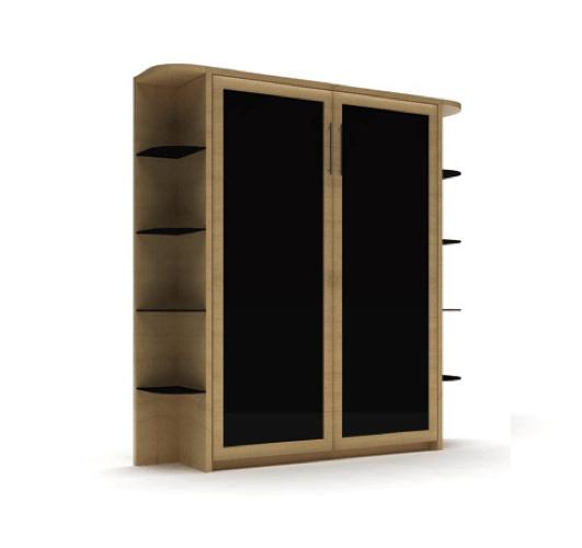 Шкаф-кровать с угловыми полками