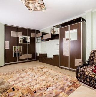 Шкаф-кровать в цвете венге с подсветкой
