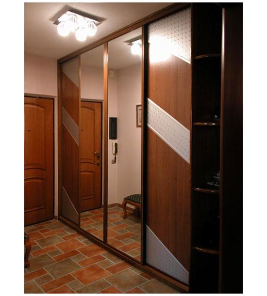 Шкаф-купе для прихожей с зеркалами