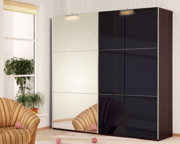 Шкаф-купе двухцветный черно-белый