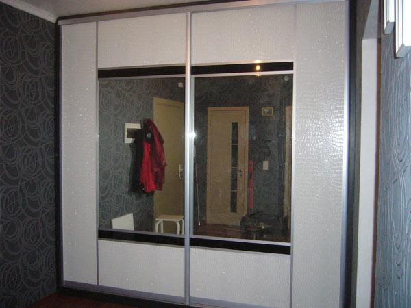 Шкаф-купе двухдверный с зеркальными вставками