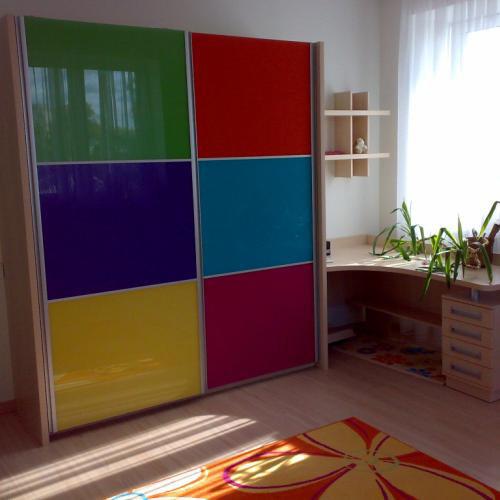 Шкаф-купе двустворчатый разноцветный