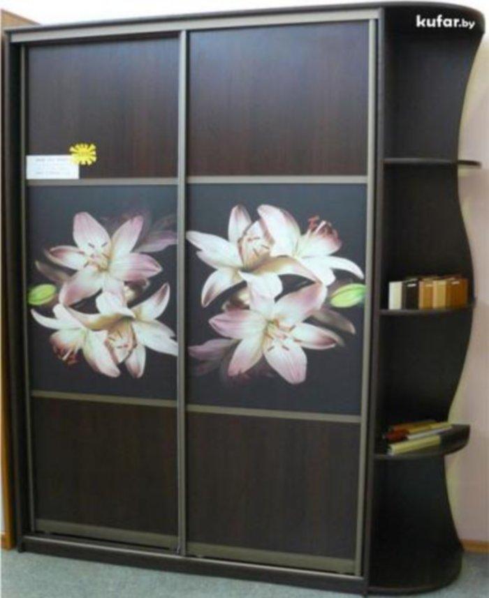 Шкаф-купе комбинированный с лилиями