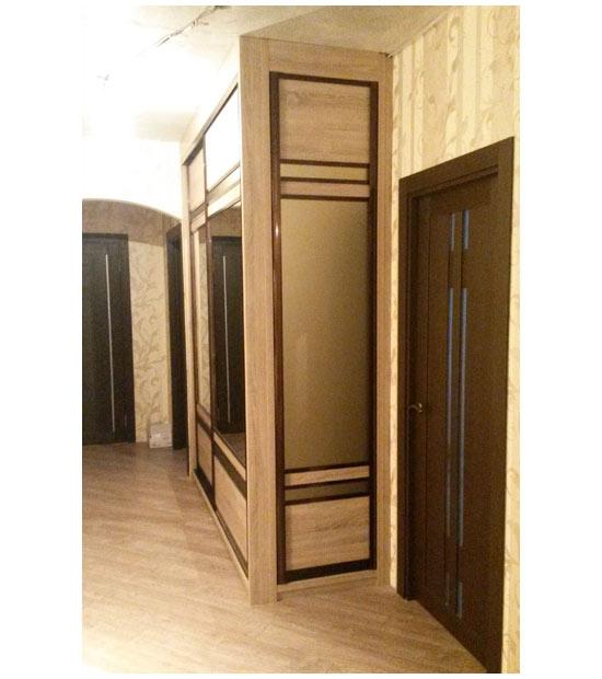 Шкаф-купе широкий с зеркалами