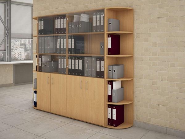 Шкаф офисный с радиусными полками