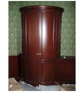 Шкаф радиусный из массива