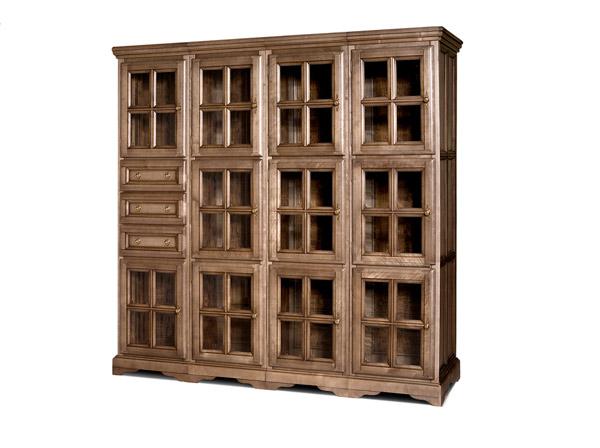 Шкаф с витриной «Сальвина» СКМ-003-31-01