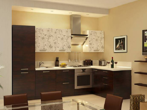 Современная угловая кухня