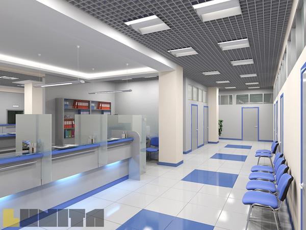 Современный набор мебели для банка