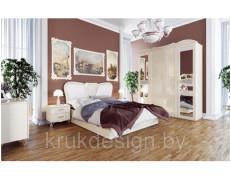 Спальный гарнитур с глянцевыми фасадами «София»